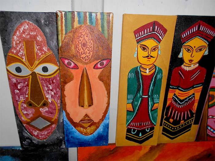 Making of Paintings by Presidency Jail Inmates - Khidderpore Sarbojanin Durga Puja 2018