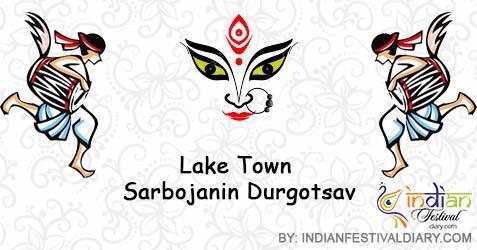 lake town sarbojanin durgotsav