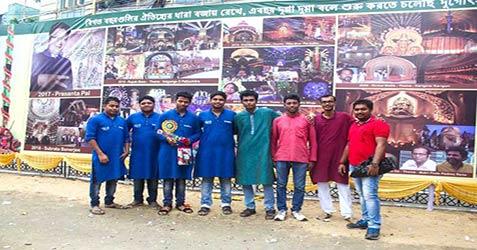 santoshpur trikon park durgotsab images 2017