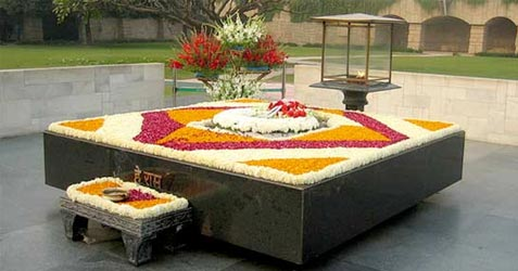 Mahatma Gandhi's Memorial at Raj Ghat, New Delhi